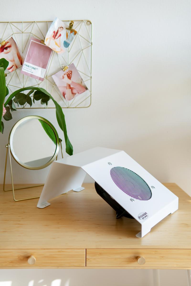 Пылесос для маникюра настольный ND-PRO (handbar-white-plus)